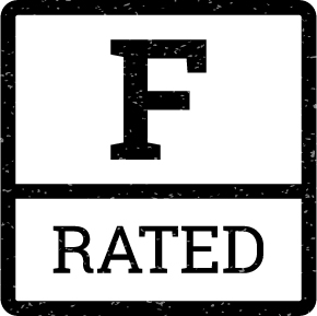 The F Rated Logo